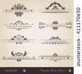 vector set of calligraphic... | Shutterstock .eps vector #411170650