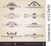 vector set of calligraphic... | Shutterstock .eps vector #411170650