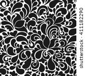seamless tracery pattern.... | Shutterstock . vector #411182290