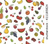 vector seamless pattern with... | Shutterstock .eps vector #411185824