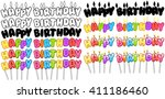 vector illustration set of... | Shutterstock .eps vector #411186460