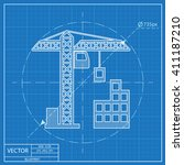 building construction icon.... | Shutterstock .eps vector #411187210