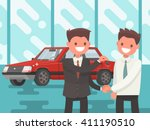 buying a car. handing of car... | Shutterstock .eps vector #411190510