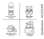 vector set of logo design... | Shutterstock .eps vector #411191359
