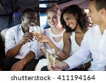 well dressed people drinking... | Shutterstock . vector #411194164