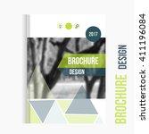 vector brochure cover template...   Shutterstock .eps vector #411196084