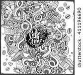 cartoon hand drawn doodles...   Shutterstock .eps vector #411196690