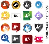 social network icon set... | Shutterstock .eps vector #41119723