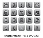 cell phone icons square icon set | Shutterstock .eps vector #411197923