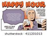 stock illustration. people in... | Shutterstock .eps vector #411201013