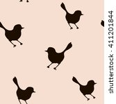 vintage seamless  pattern with... | Shutterstock . vector #411201844