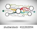 abstract background consisting... | Shutterstock .eps vector #411202054
