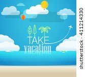 vacation travelling concept.... | Shutterstock .eps vector #411214330