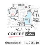 vector illustration of creative ... | Shutterstock .eps vector #411215110