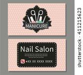 beauty  manicure. nail salon....   Shutterstock .eps vector #411215623