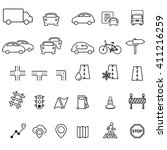 traffic related icon set | Shutterstock .eps vector #411216259