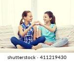 people  children  friends and... | Shutterstock . vector #411219430