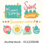 set of summer icon. isolated... | Shutterstock .eps vector #411220048