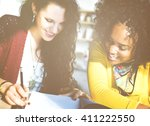 meeting talking discussion...   Shutterstock . vector #411222550