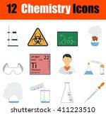 flat design chemistry icon set...