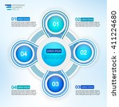 circle four steps infographic ... | Shutterstock .eps vector #411224680