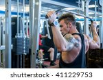 back view of bodybuilder... | Shutterstock . vector #411229753