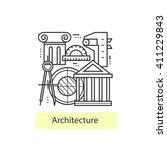 modern thin line icons...   Shutterstock .eps vector #411229843