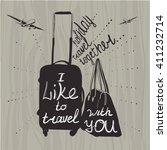 vector illustration travel... | Shutterstock .eps vector #411232714