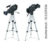 professional digital video... | Shutterstock .eps vector #411235336