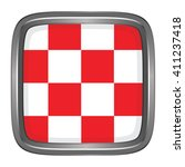 3d button flag of north brabant ... | Shutterstock .eps vector #411237418