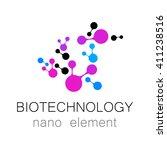biotechnology. symbol molecule. ... | Shutterstock . vector #411238516