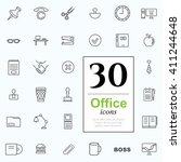 set of office icons for web or... | Shutterstock .eps vector #411244648