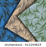 striped scene different colors... | Shutterstock .eps vector #411244819