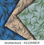striped scene different colors... | Shutterstock .eps vector #411244819
