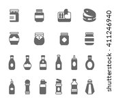 icon set   ketchup | Shutterstock .eps vector #411246940