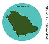 saudi arabia map | Shutterstock . vector #411247363