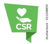 vector csr green badge  sticker ... | Shutterstock .eps vector #411248854