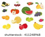 vector illustration fruits | Shutterstock .eps vector #411248968