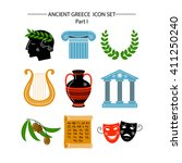 set of vector images on the... | Shutterstock .eps vector #411250240