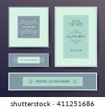 vector modern elegant postcard...   Shutterstock .eps vector #411251686