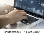 technology and business concept ... | Shutterstock . vector #411253300