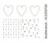 Hearts Of Flowers. Print Of...