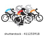 cycling competition. abstract... | Shutterstock .eps vector #411253918
