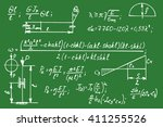 physical equations on school... | Shutterstock .eps vector #411255526