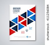 cover flyer report colorful... | Shutterstock .eps vector #411256084