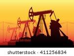 vector illustration of working... | Shutterstock .eps vector #411256834