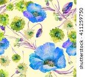 beautiful floral seamless... | Shutterstock . vector #411259750