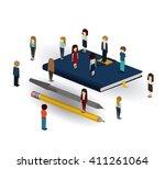 businesspeople isometrics...   Shutterstock .eps vector #411261064