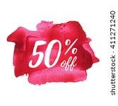 50  off vector text  logo  card ... | Shutterstock .eps vector #411271240
