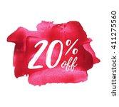 20  off vector text  logo  card ... | Shutterstock .eps vector #411275560